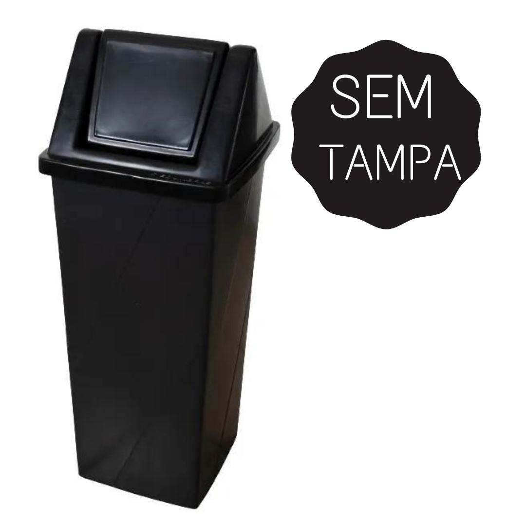 Lixeira Sem Tampa Vaivém Polietileno de Média Densidade 92L - Prime - Só Lixeiras