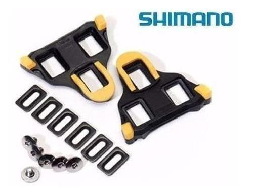 Taco Pedal Clip Shimano Sm-sh11 Speed Pedal Amarelo Original
