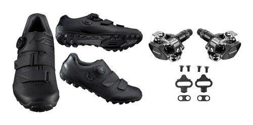 Sapatilha Shimano Me4 Me400 Sistema Boa + Pedal Shimano M505