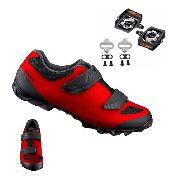 Sapatilha Shimano Me1 Me100 + Pedal Shimano T400 + Tacos Red