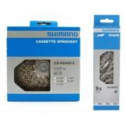 Cassete Shimano Hg400 11-32 9v + Corrente Hg53 Sora Alivio