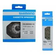 Cassete Shimano Tiagra Hg500 10v 11-25 + Corrente Hg54 10v