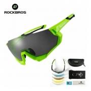 Oculos Ciclismo Rockbros Com 5 Lentes + Clip De Grau C/uv400