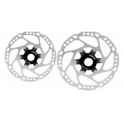Par Disco Freio Rotor Shimano Deore Rt64 160mm + 180mm