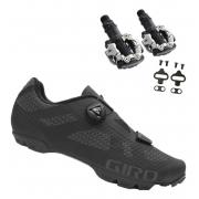 Sapatilha Giro Rincon Boa L6 System + Pedal Shimano M520 Mtb