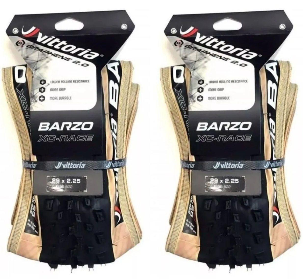 2 Pneus Vittoria Barzo Xc Race 29x2.25 Grafeno Tubeless