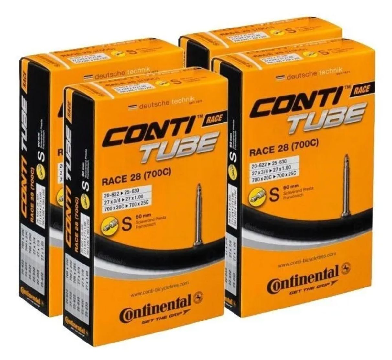 4 Câmara De Ar Continental Speed 700 X 18-25 Válvula 60mm