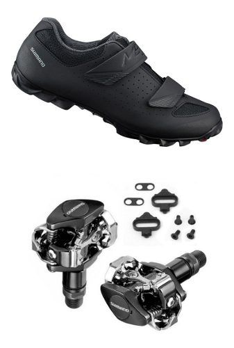 Sapatilha Shimano Me1 Me100 + Pedal Shimano M505 + Tacos