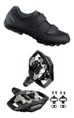 Sapatilha Shimano Me1 Me100 + Pedal Shimano M530 + Tacos