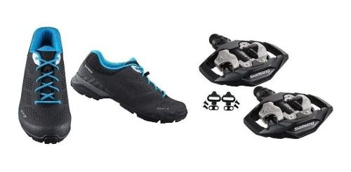 Sapatilha Shimano Mt301 Tipo Tênis + Pedal M530 + Tacos Clip