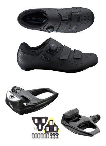 Sapatilha Shimano Rp4 Rp400 Sistema Boa + Pedal R540 + Tacos