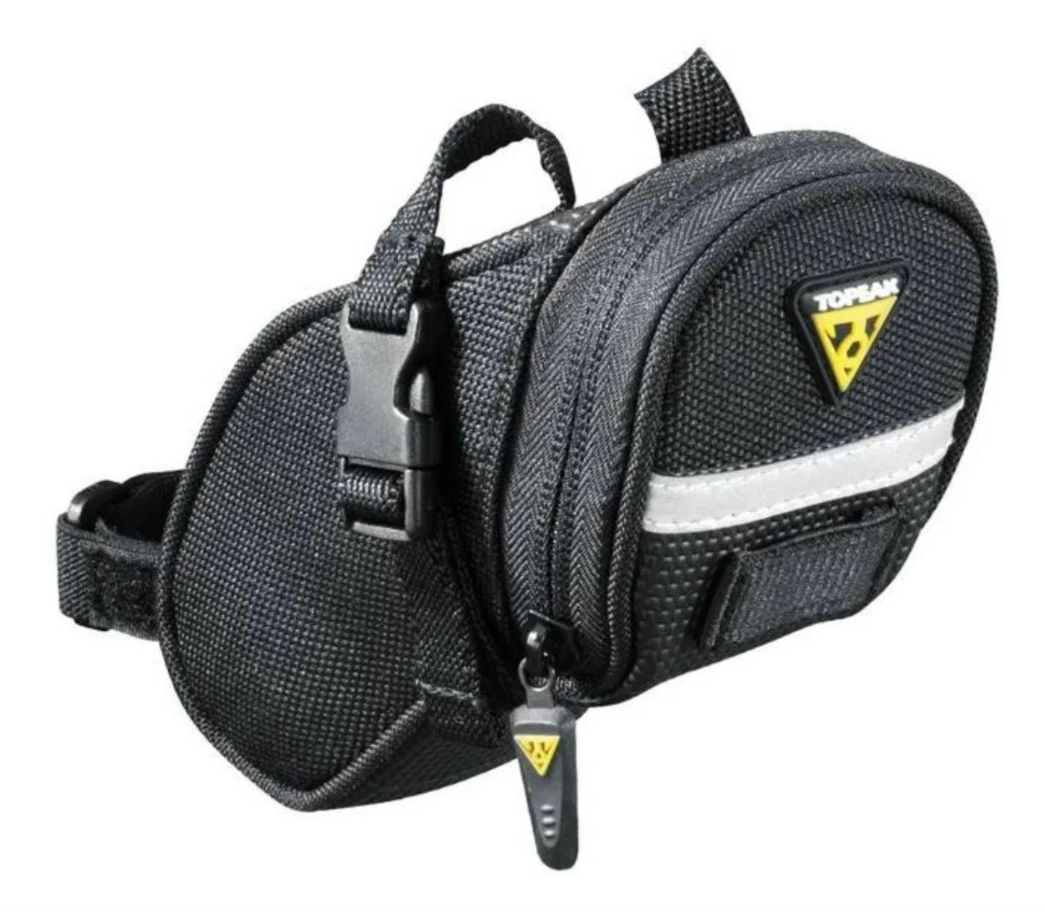 Bolsa De Selim Topeak Aero Wedge Pack C/ Tiras Xs Tc2471b