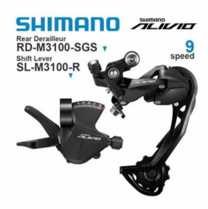 Cambio Traseiro + Alavanca Shimano Alivio Rd-m3100 9v Kit
