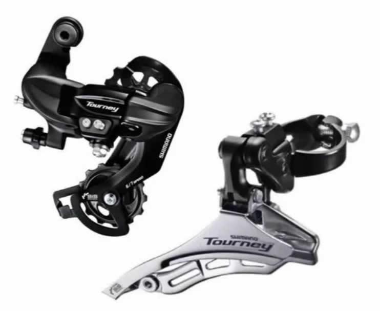 Cambio Traseiro Bike Shimano Tourney+ Cambio Dianteiro Ty300