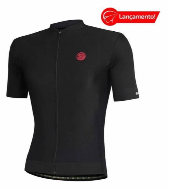 Camisa Ciclismo Mauro Ribeiro Masculina Fiber Black Perform