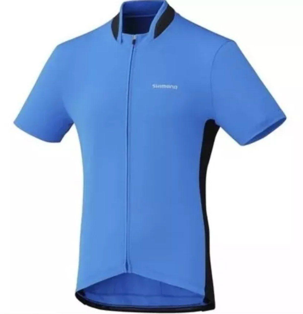 Camisa Ciclismo Shimano Performance Full Zip Azul Tam P