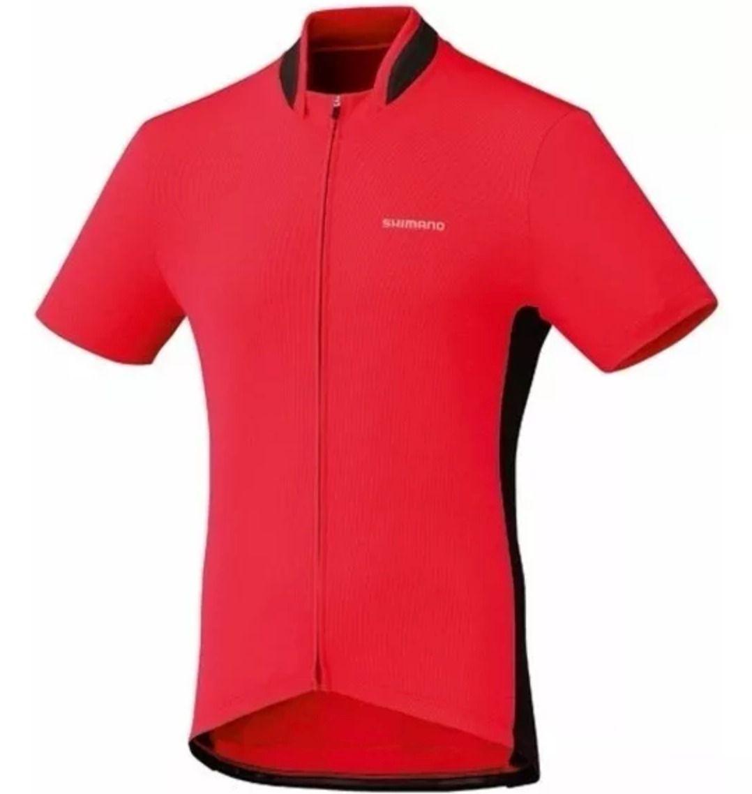 Camisa Ciclismo Shimano Performance Full Zip Vermelha Tam P