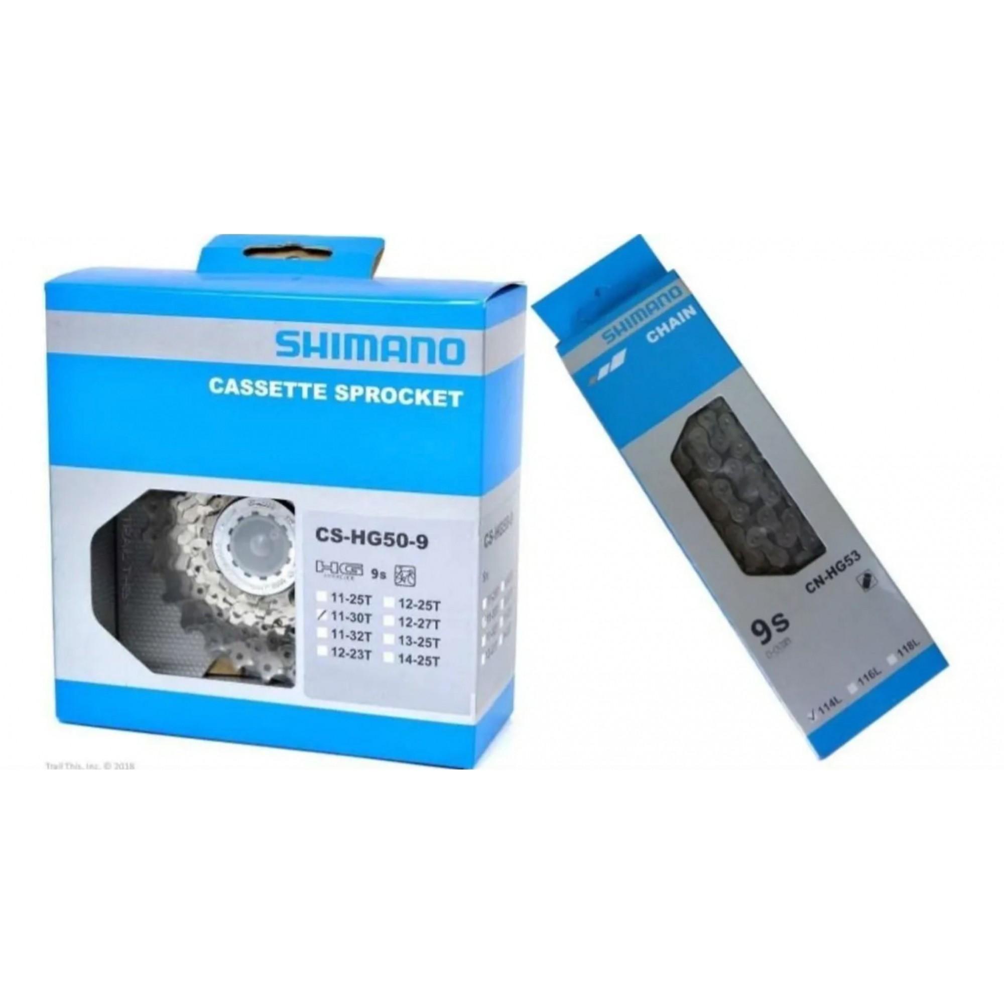 Cassete Shimano Hg50 11-30 9v + Corrente Hg53 9v Speed Sora