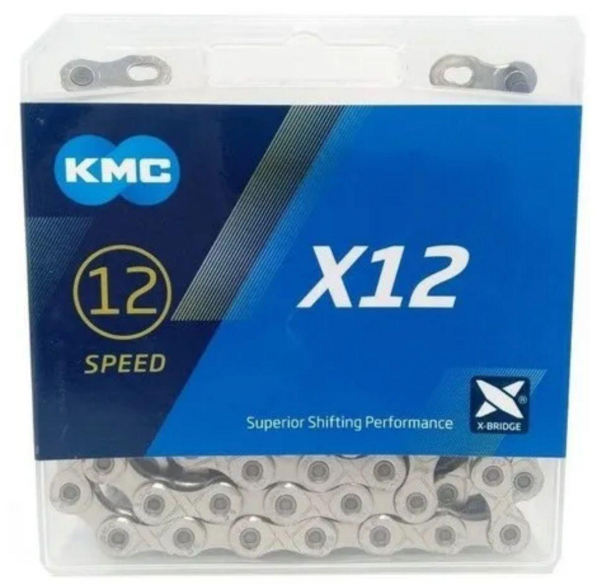 Cassete Sunrace Mz90 12v 11-50 + Corrente Kmc 12v Silver Top