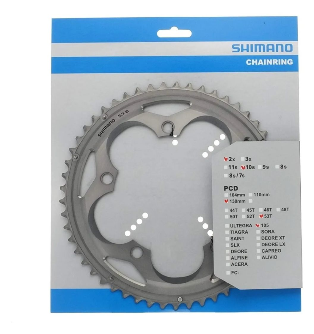 Coroa Shimano 105 Fc-5700 Bcd 130mm 53d Speed