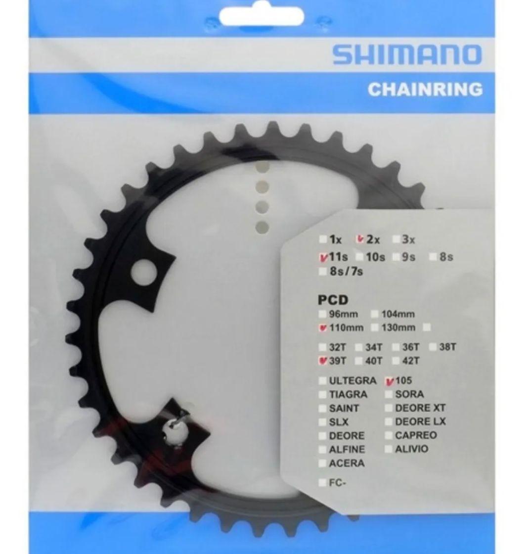 Coroa Shimano 105 Fc-5800 39d 2x11v Original Bcd 110mm