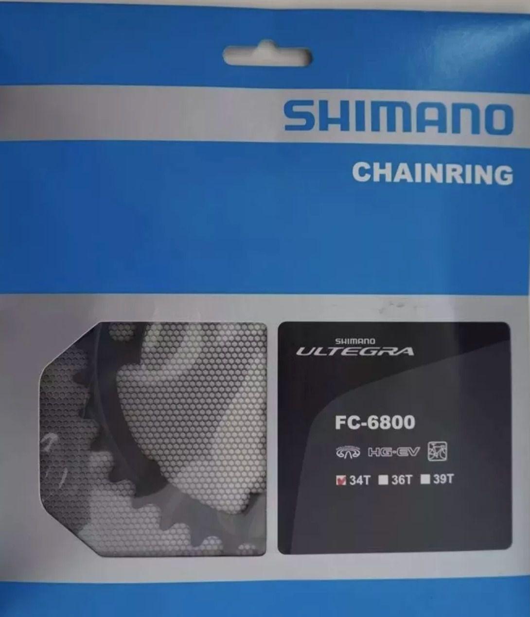 Coroa Shimano Ultegra Fc-6800 34 Dentes Bcd 110mm 11v