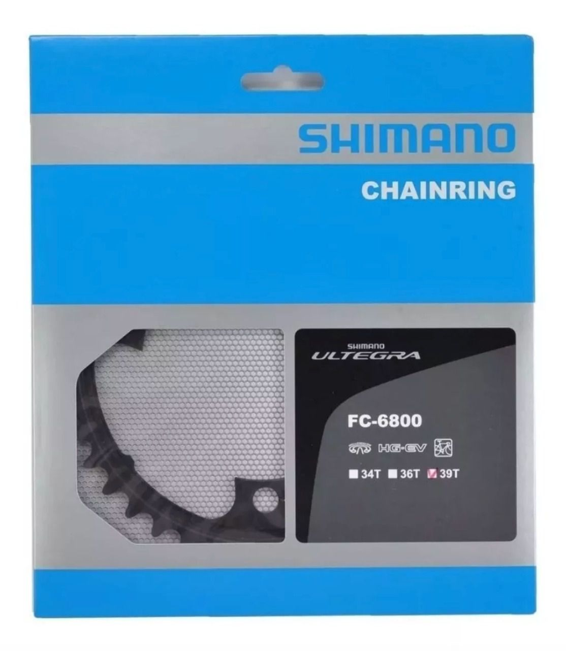Coroa Shimano Ultegra Fc-6800 39 Dentes Bcd 110mm 11v