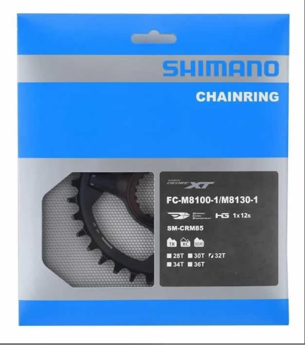 Coroa Shimano Xt 12v Fc-m8100/fc-m8130 Sm-crm85 32d