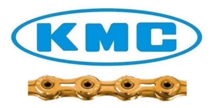 Corrente Kmc 10v Bike 116 Elos X10el Dourada Extra Light