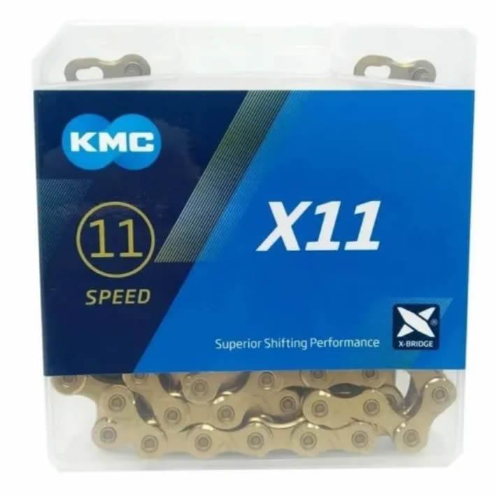 Corrente Kmc X11 Gold 118 Elos 11v Sram/shimano