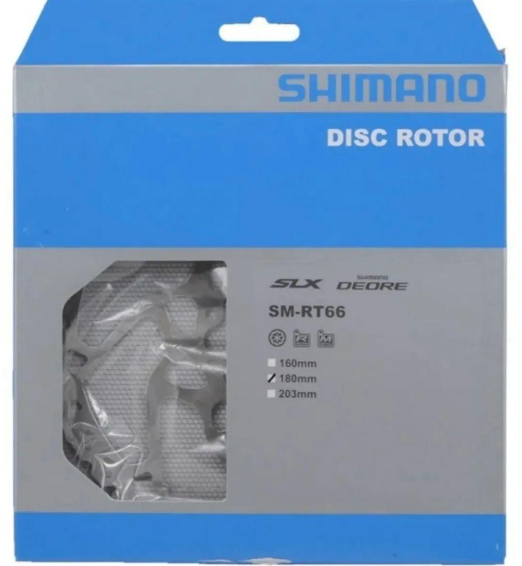 Disco Freio Rotor Shimano Deore Slx Rt66 180mm 6 Parafusos