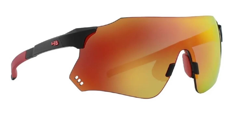 Óculos Ciclismo Hb Quad X Matte Black Red Chrome