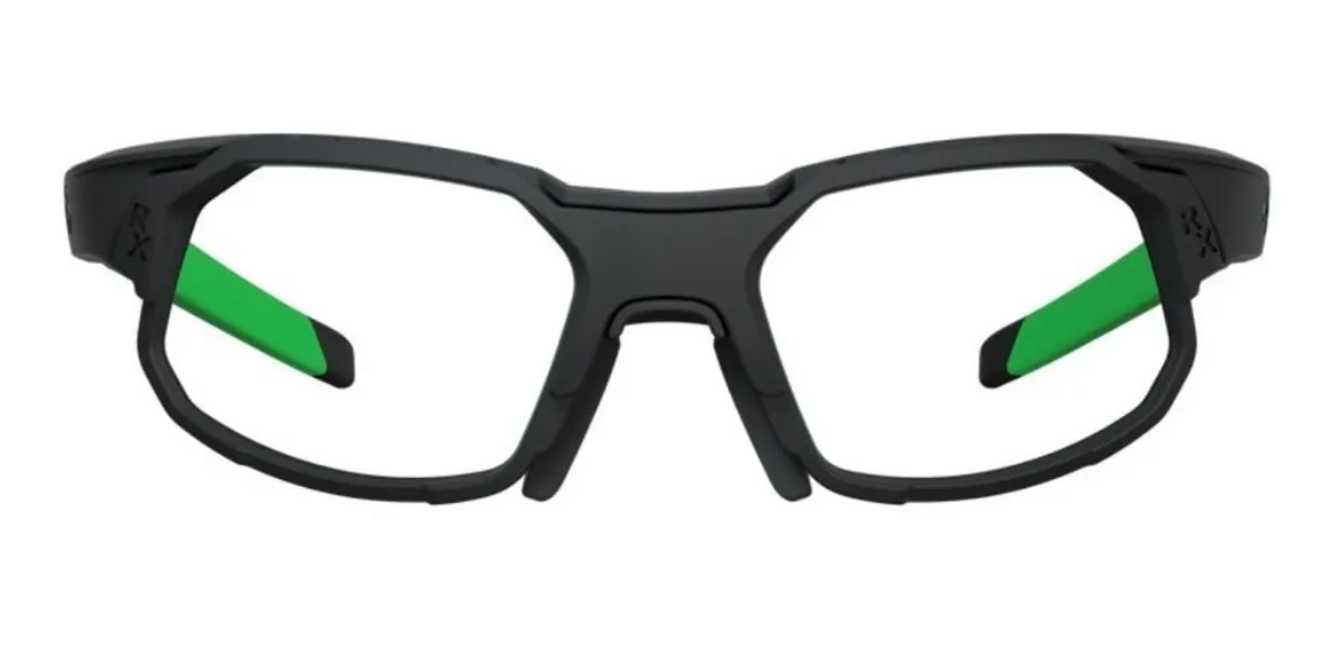 Óculos Ciclismo Hb Rush Green Chrome Grau E Clip Sol