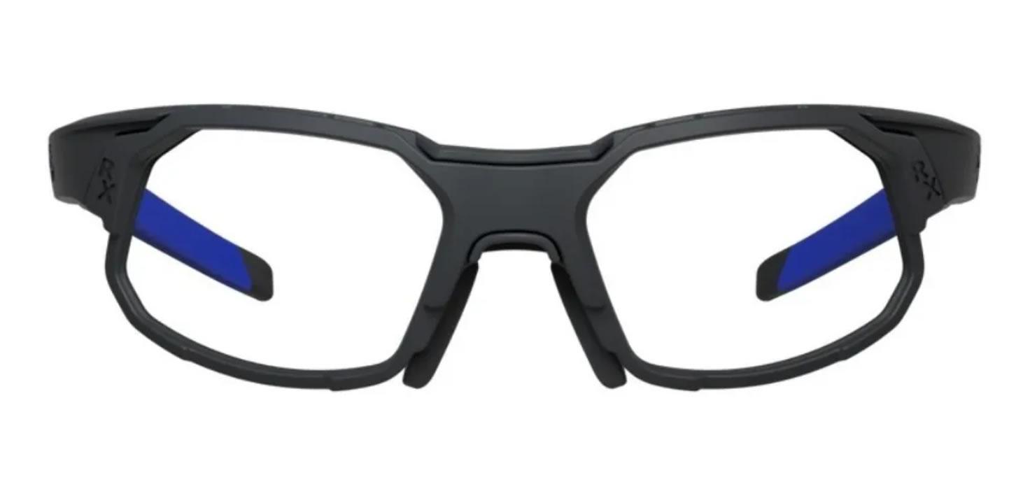 Óculos Ciclismo Hb Rush Matte Blue Chrome Grau E Clip Sol