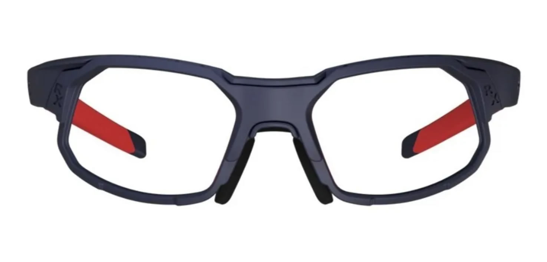 Óculos Ciclismo Hb Rush Matte Navy Multi Red Grau Clip Sol