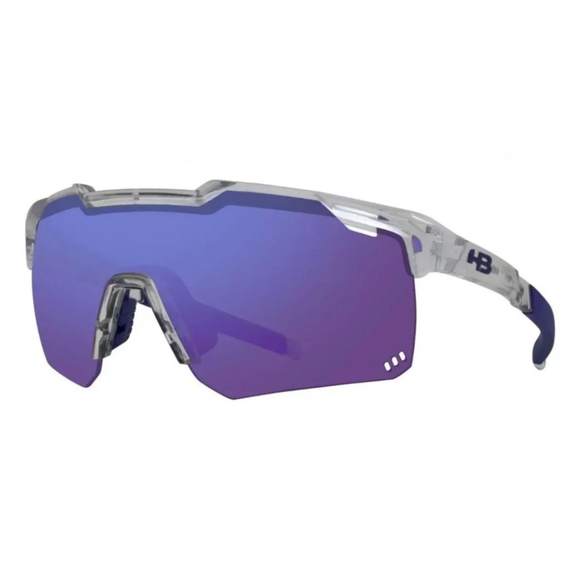 Óculos Ciclismo Hb Shield Evo Road Azul Espelhada + Amarela