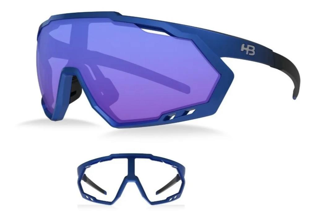 Óculos Ciclismo Hb Spin Gradient Blue 2 Lentes