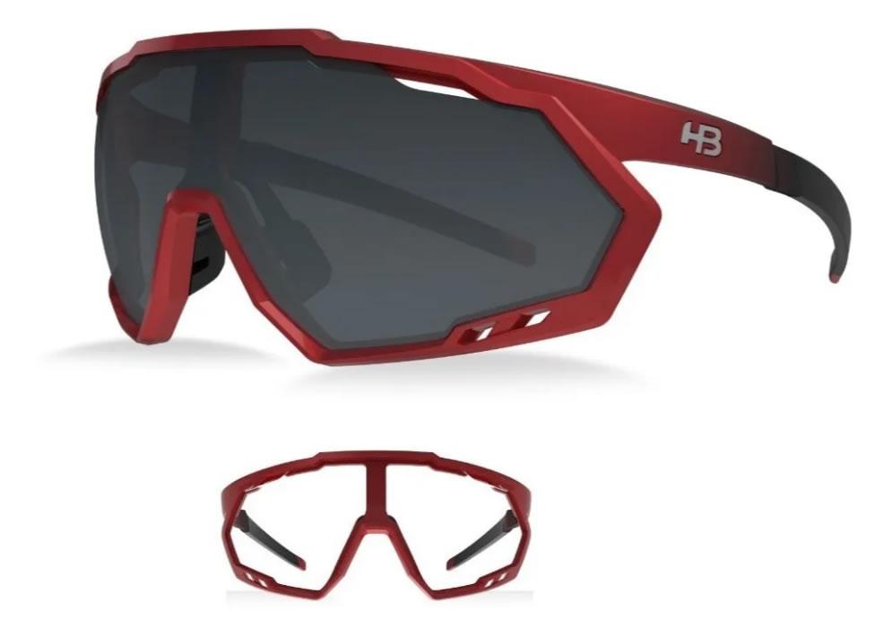 Óculos Ciclismo Hb Spin Gradient Vermelho 2 Lentes
