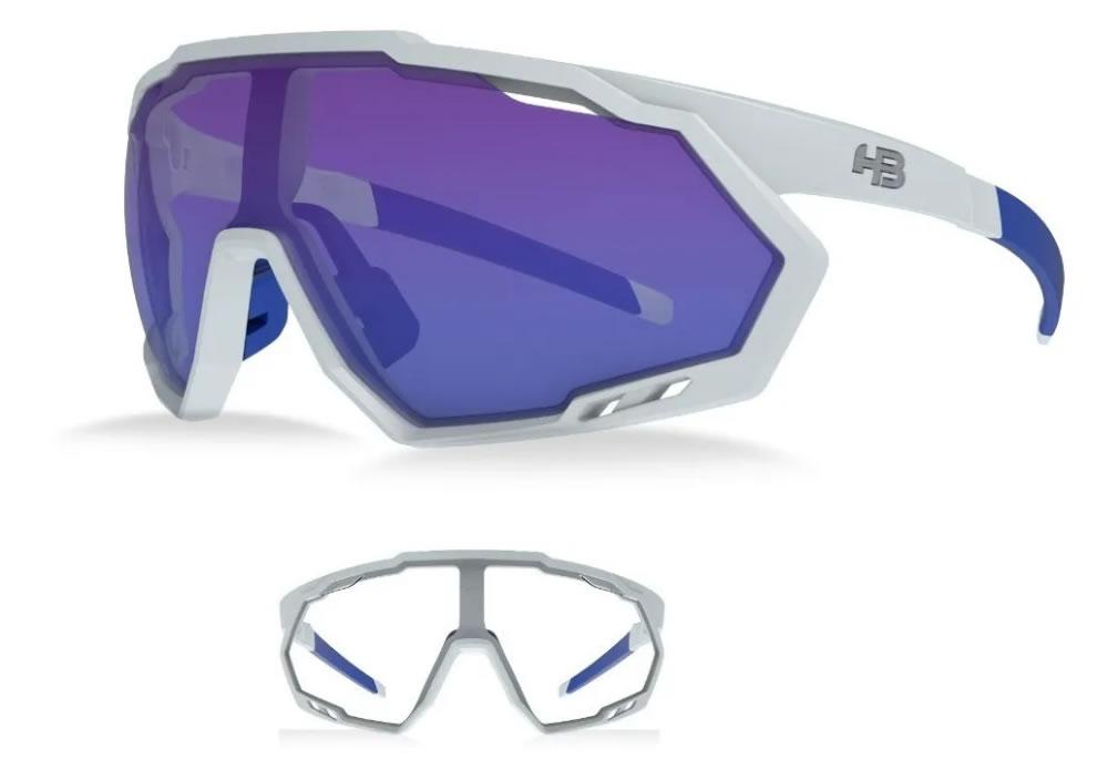 Óculos Ciclismo Hb Spin Pearled Branco 2 Lentes
