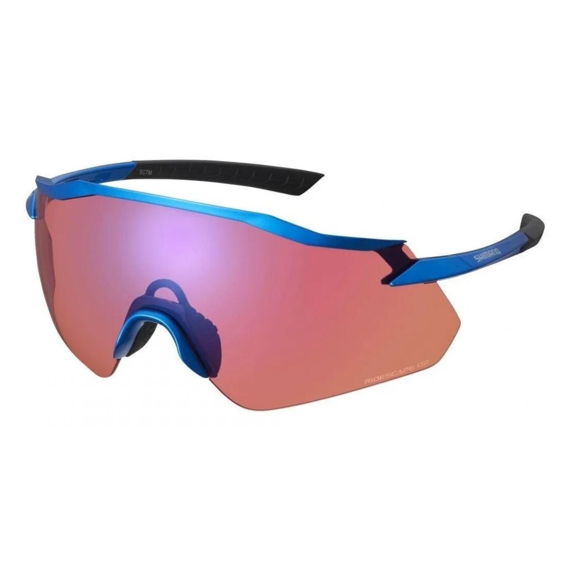 Óculos Shimano Equinox 4 Azul Lente Ridescape Road