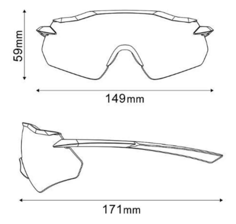 Óculos Shimano Equinox 4 Preto Lente Ridescape Road