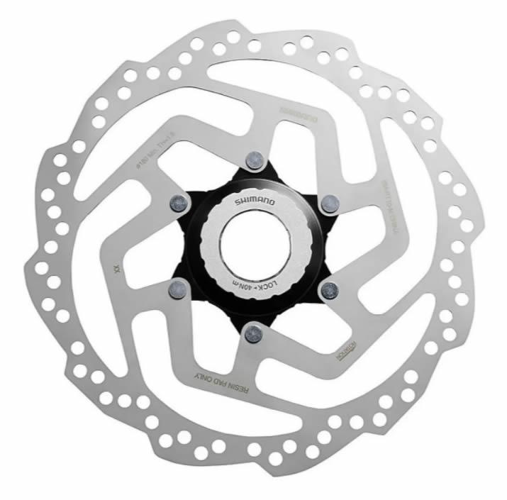 Par Disco Freio Rotor Shimano Rt10 Center Lock 160 + 180mm