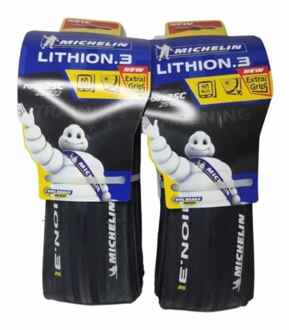 Par Pneu Michelin Lithion 3 700x25 Performance Kevlar