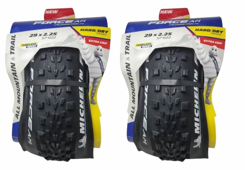 Par Pneu Mtb Michelin 29x2.25 Force Competition Tubeless