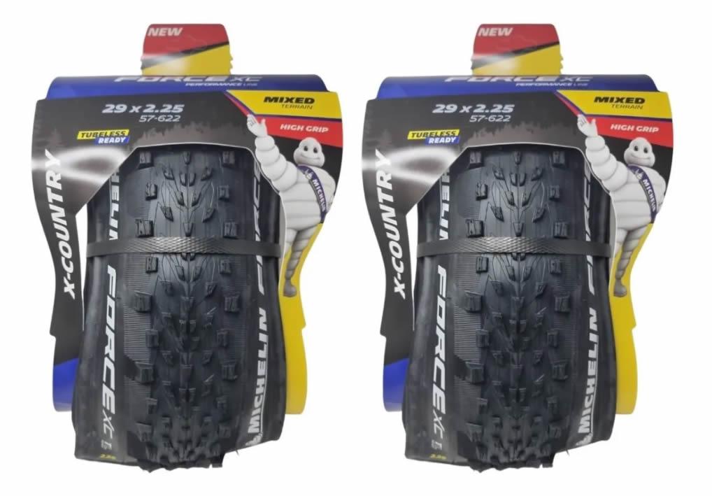 Par Pneu Mtb Michelin 29x2.25 Force Xc Performance Tubeless