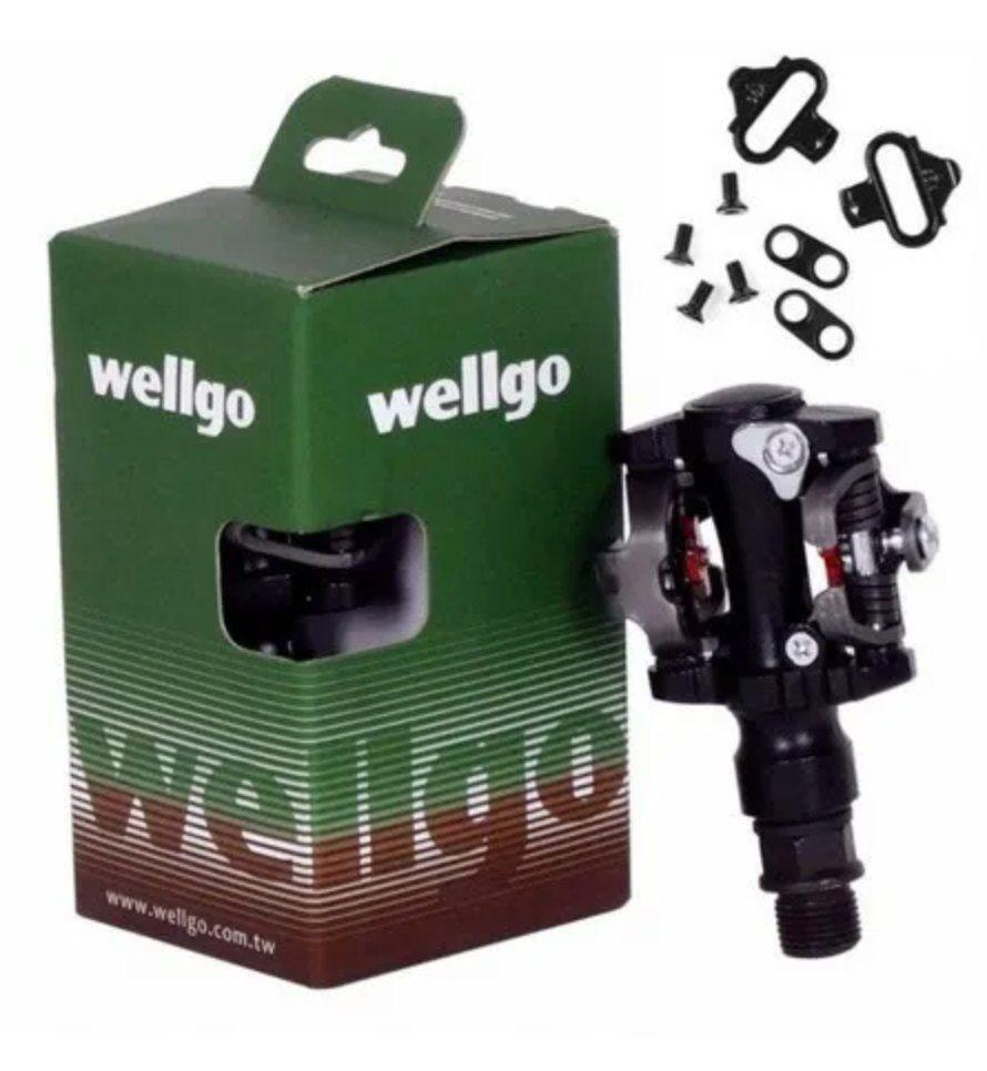 Pedal Clip Wellgo M919 + Tacos Clip Mtb Bicicleta Original