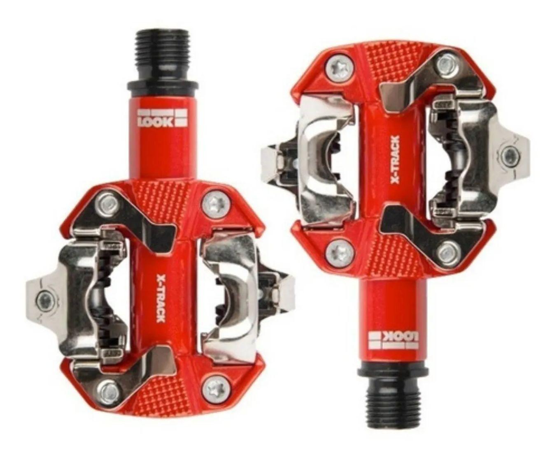 Pedal Look X-track Mtb Vermelho Com Taquinho