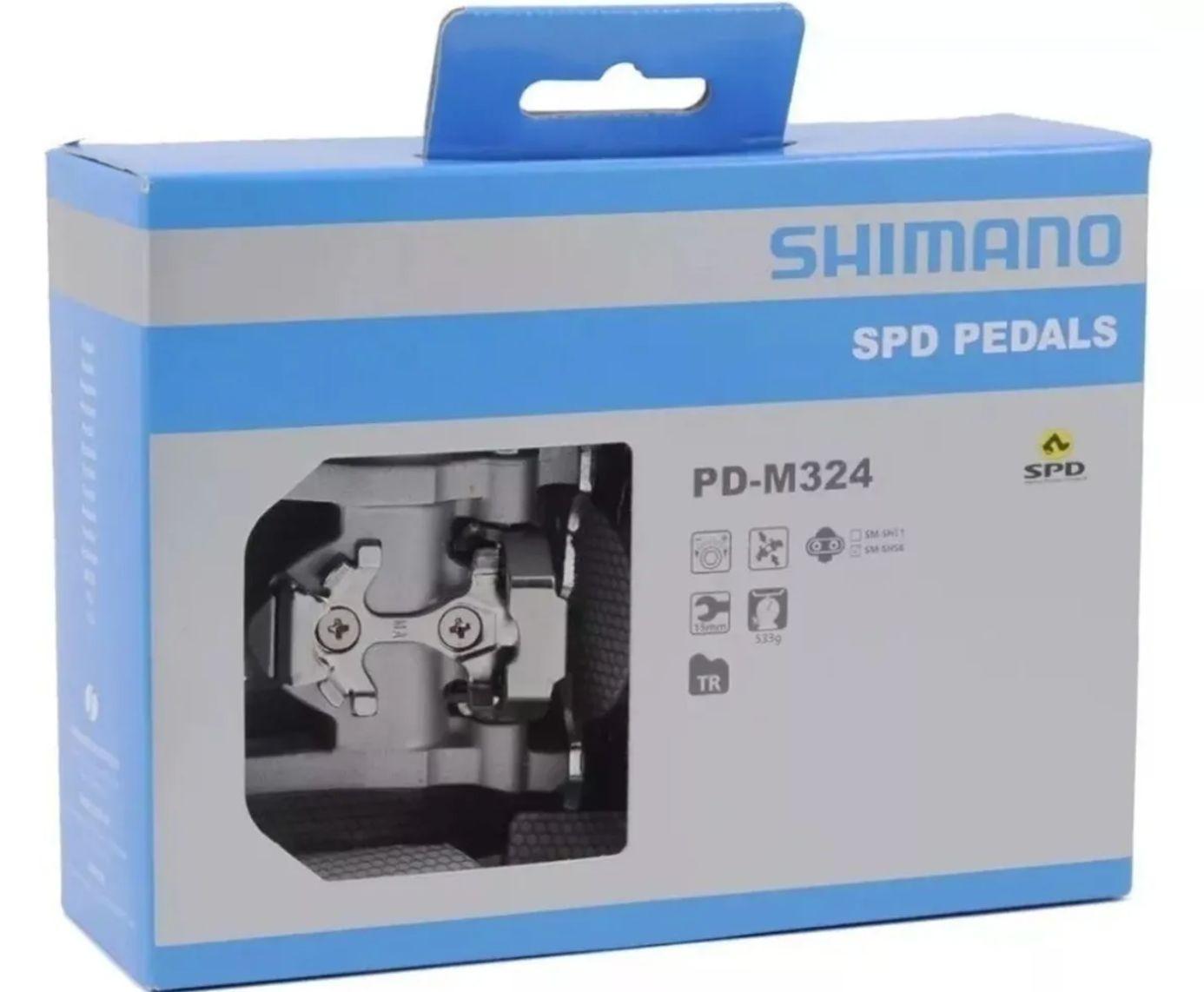Pedal Shimano Pd-m324 Plataforma Ou Clip Spd Mtb Original