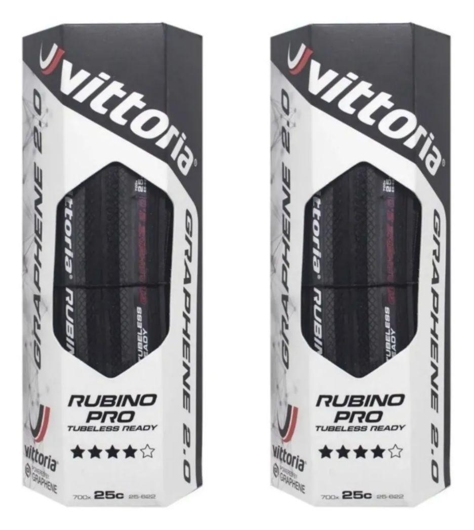 Pneu Vittoria Rubino Pro Iv G2.0 Tubeless Ready 700x25c Par