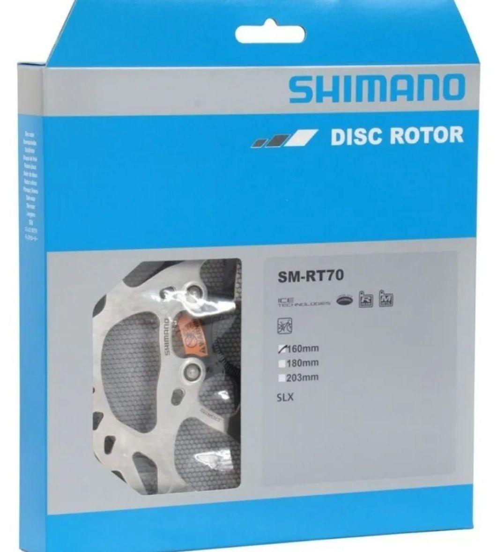 Rotor Disco De Freio Shimano Slx Rt70 160mm Ice Tech